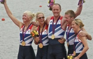 LTAMix4+ Paralympic Champions: (L to R) Pam Relph, Naomi Riches, David Smith, James Roe, Lily van den Broecke
