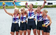 Team GB's LTAMix4+ at the London 2012 Paralympic Games © Simon Way