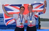 Charlotte Taylor and Kat Copeland with their gold medals