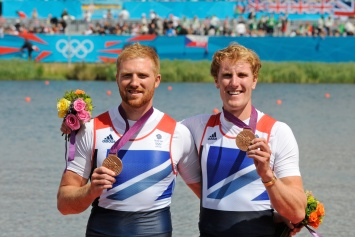 Debut season and first Olympic medal for Will Satch (left) and George Nash - Bronze in the men's pair at London 2012