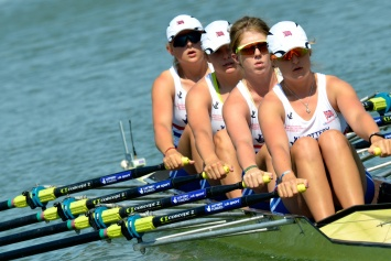 The GB JW4x of (L to R) Leyden, Bartlett, Unsworth and Burgess - 7th overall after winning B final