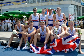 The GB junior men's eight - World Junior bronze medallists 2012