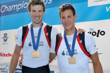 Chris Boddy (left) and Mikey Mottram - Bronze in the LM2x