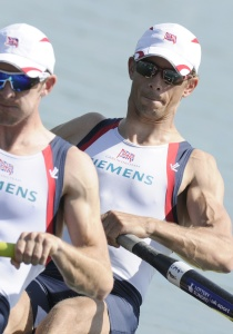 Adam Freeman-Pask (left) and Paul Mattick en route to gold at Munich World Cup
