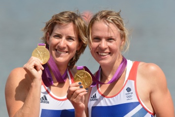 Katherine and Anna - London 2012 gold medallists in the women's double scull
