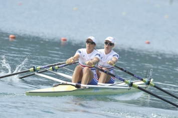 Katherine and Anna en route to winning the 2011 World Championships in Bled, Slovenia