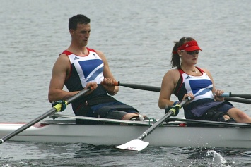 Nick Beighton - fourth in the Paralympic mixed double scull final