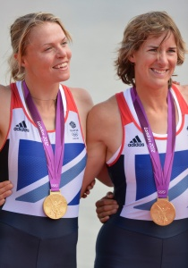Grainger (right) won Olympic gold with Anna Watkins and has been awarded a CBE