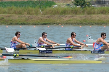 The men's four in action in Chungju