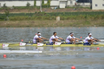The men's quad were smooth in qualifying