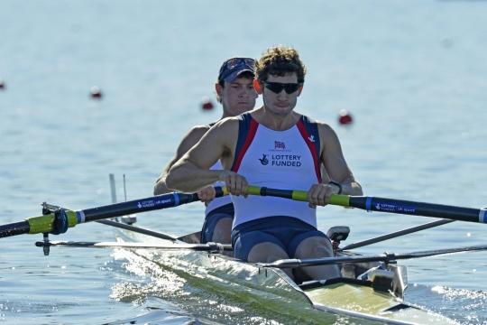 Kieren Emery and Matthew Tarrant won their repechage in the men's pair in Varese