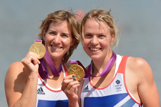 Katherine Grainger (left) and Anna Watkins - Olympic gold medallists at London 2012 in the women's double scull