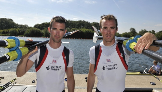 The Chambers brothers Richard (left) and Peter will race the lightweight men's double at Eton Dorney
