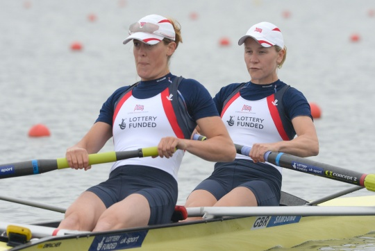 Louisa Reeve and Katie Greves qualified for the finals which now features three GB women's pair crews