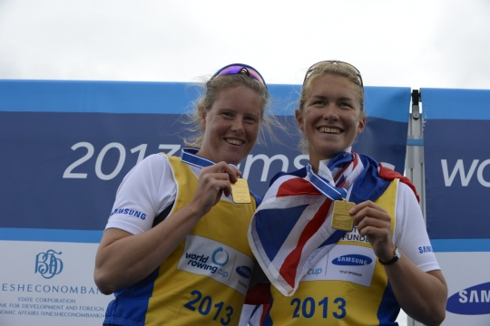 Frances Houghton (left) and Vicky Meyer Laker are the GB open double in Lucerne