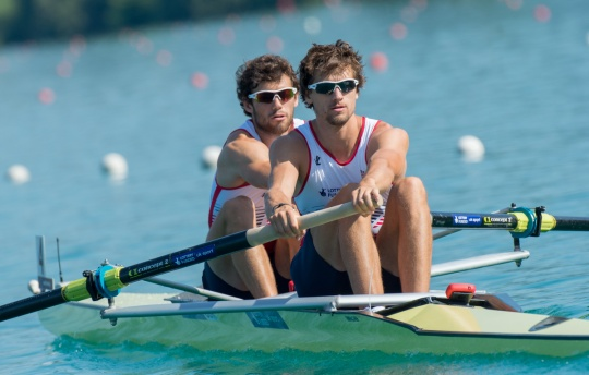 Gotrel (left) and Bennett have moved into the eight for Henley and Lucerne with Ransley and Louloudis