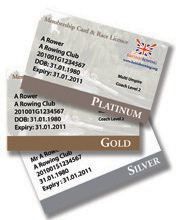 Image  of British Rowing Membership Cards