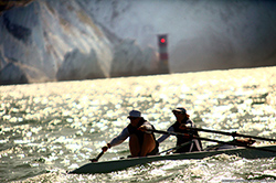Image of Guin Batton rowing in Coastal Challenge