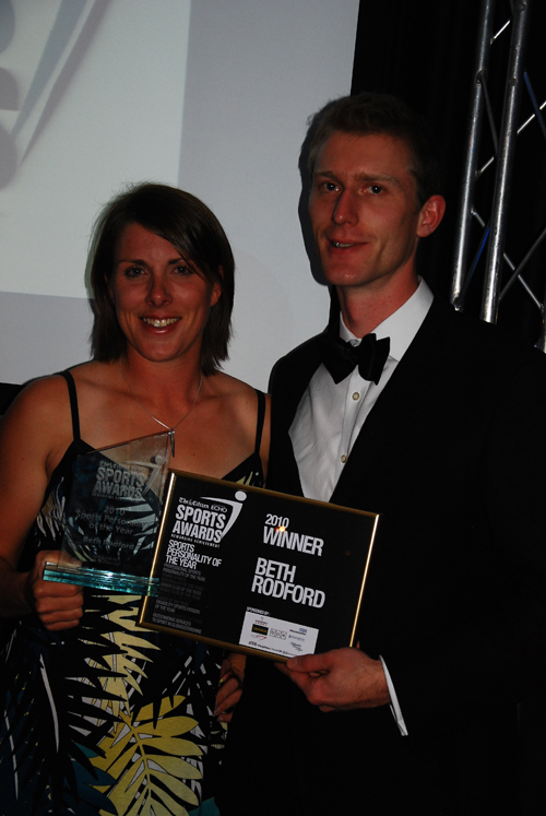Beth Rodford receives Gloucestershire Sports Personality of the Year 2010