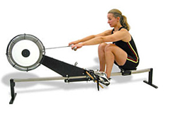 Air resistance indoor rowing machine