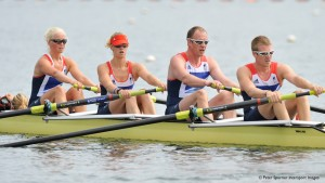 LTA Mixed Coxed four.James Roe, Naomi Riches, Pam Relph and Dave Smith and Cox, Lily van den Broecke gold medallists London 2012
