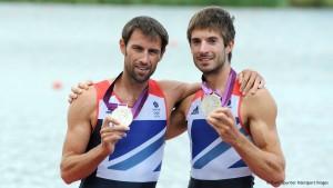 Mark Hunter and Zac Purchase winning silver at London 2012.
