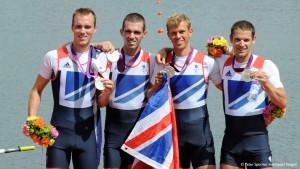 Peter Chambers, Rob Williams, Richard Chambers, Chris Bartley winning silver medal at London 2012