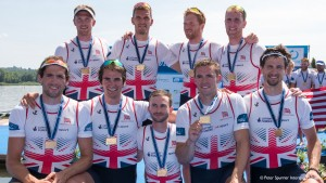 Varese. ITALY. Men's Eights. GBR, Bow Matthew GOTRAL, Stewart INNES, Peter REED, Paul BENNETT, Mohames SBIHI, Alex GREGORY, George NASH, William SATCH, Cox, Henry FIELDMAN. Gold Medalist.