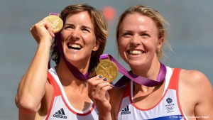 Anna Watkins and Katherine Grainger winning gold at London 2012.