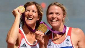 Anna Watkins and Katherine Grainger winning gold at London 2012.