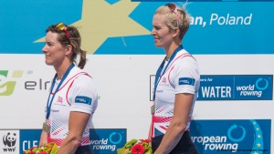 Poznan. Poland. GBR W2X. Right: Victoria THORNLEY Left. Katherine GRAINGER