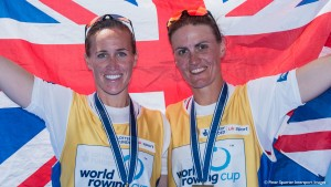 Varese. ITALY. GBR W2-. Bow helen GLOVER and Heather STANNING. Gold medalist women's pair.