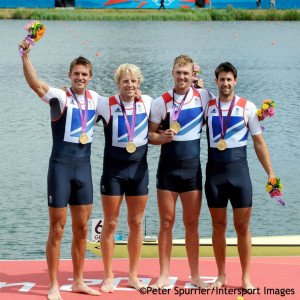 Pete Reed, Andrew Triggs Hodge, Alex Gregory and Tom James won men's four gold at the London 2012 Olympic Games