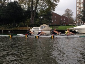 Women's four out on the river