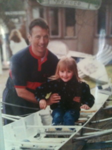 Holly, aged 3, with her dad Keith
