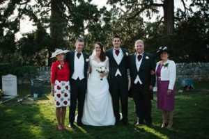 Sam and Tasha Page's wedding day with family all around