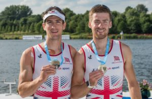 Sam Scrimgeour (left) has been named at the lightweight men's spare for Rio: Copyright: Intersport Images