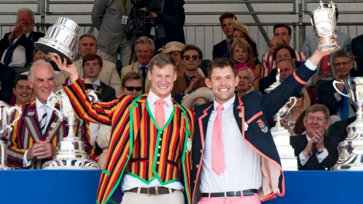 Nick Middleton and Jack Beaumont won the Double Sculls Challenge Cup © Henley Royal Regatta