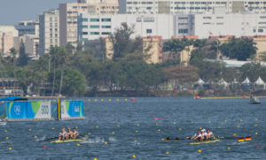 The light men's four in action. Copyright Intersport Images