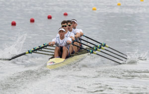 The quad became the first GB boat to reach an Olympic final in Rio. Copyright: Intersport Images