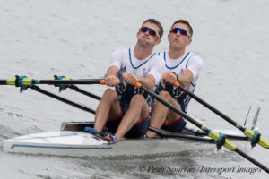 Light men's double safely through to semis. Copyright Intersport Images