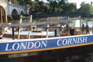 Cornish Gig Fury on the riverbanks of the Thames