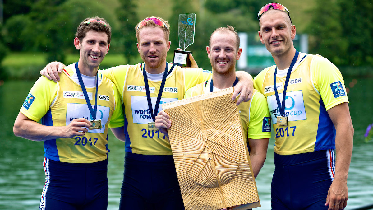 1504d42cf8d The mens four win gold at World Rowing Cup III in Lucerne - Naomi Baker