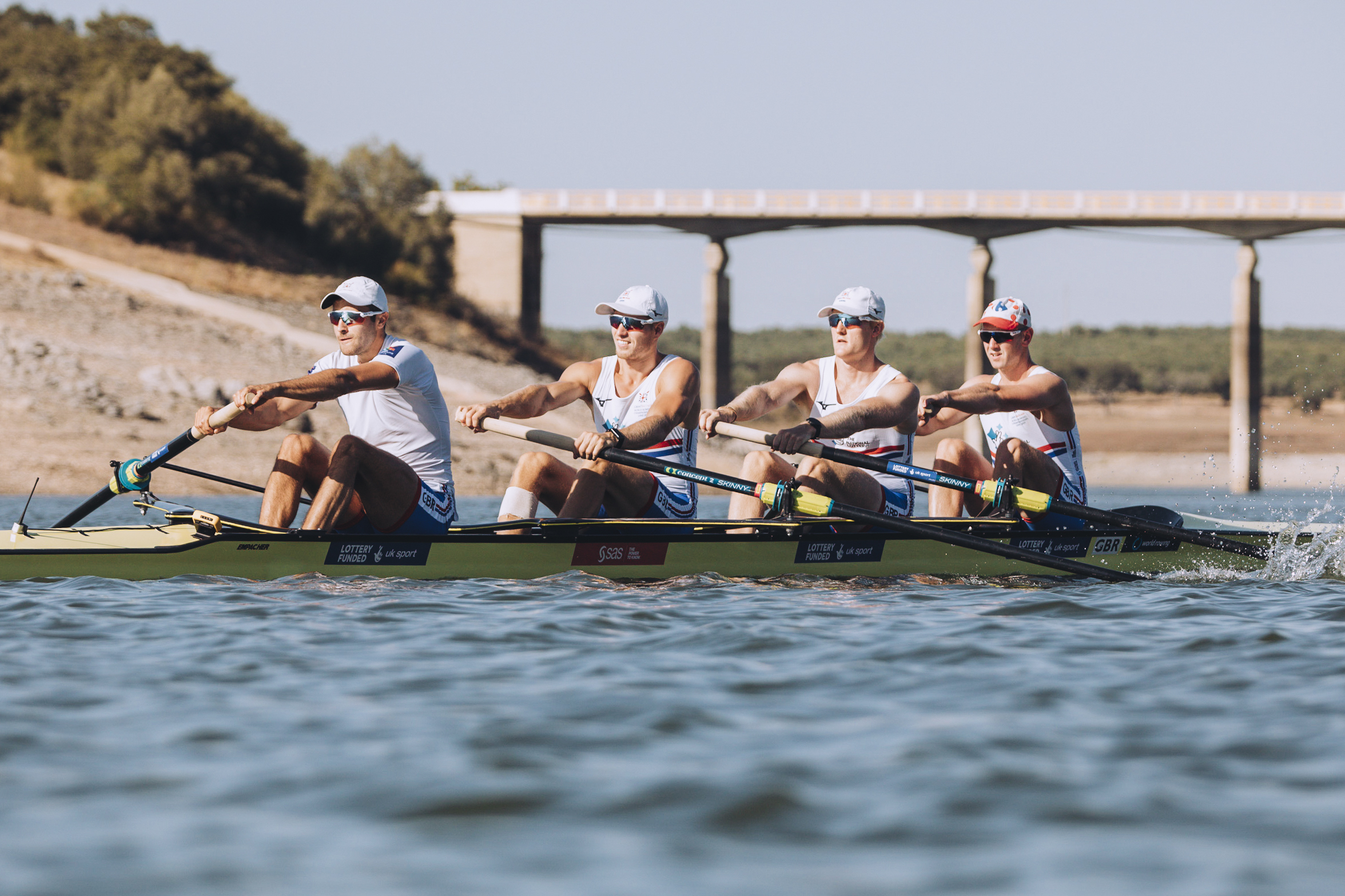Matt and his crewmates on camp in Aviz, 2019. Credit Nick Middleton